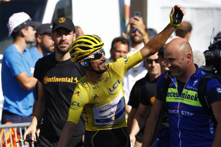 Peter Sagan bolde als àllerlaatste over de streep in de Tour de France, Julian Alaphilippe nationale held op Franse feestdag