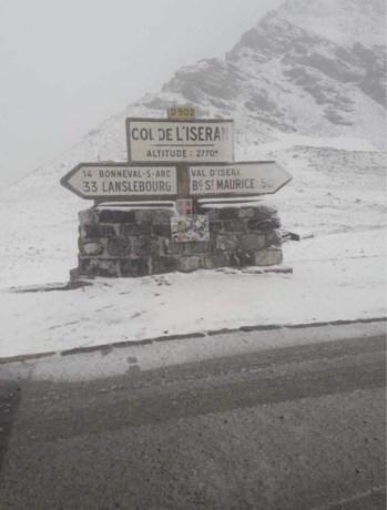 Is Col d'Iseran de nieuwe Gavia? Tour-col nog bedekt onder laagje sneeuw