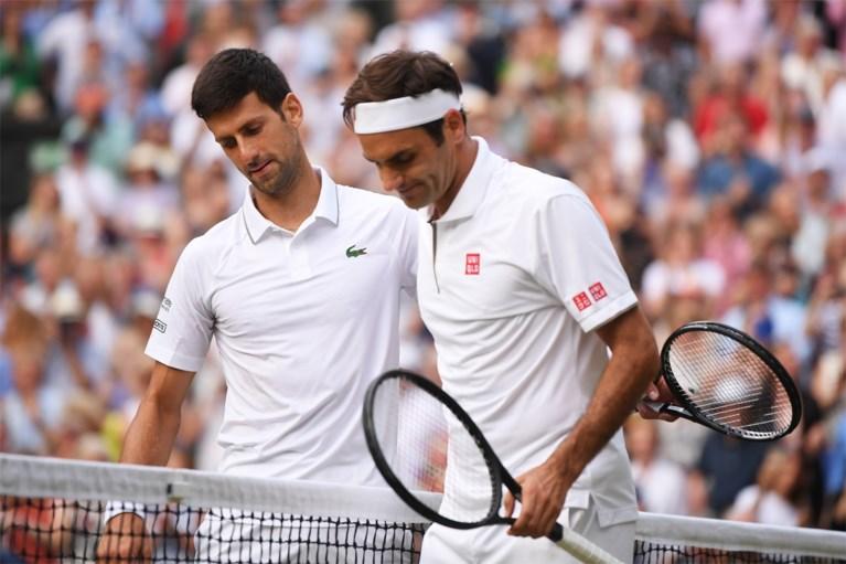 """Novak Djokovic na legendarische Wimbledon-finale: """"Als ik het publiek 'Roger' hoor schreeuwen, doe ik alsof ik 'Novak' hoor"""""""