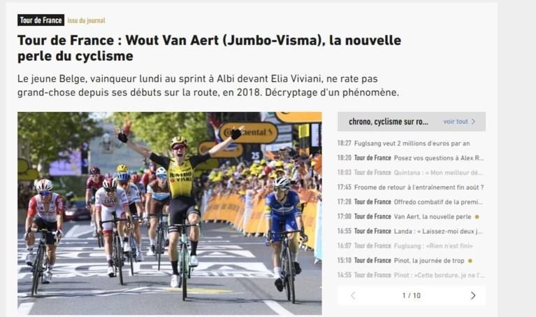 Ook Lance Armstrong onder de indruk van Wout van Aert, die zelfs felicitaties krijgt van CEO van Apple