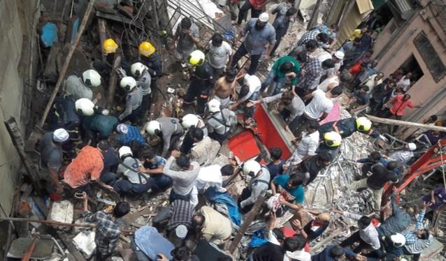 Gebouw ingestort in Mumbai: minstens vier doden en twaalf vermisten