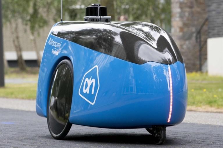 Albert Heijn test zelfrijdende robot die je boodschappen thuis komt bezorgen