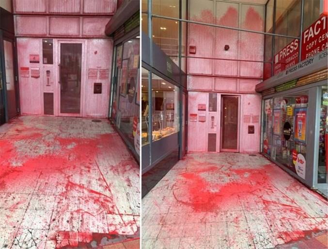"""Vlaams Belang-topman deelt video van vandalisme aan hoofdkwartier: """"Dit mag nooit getolereerd worden"""""""