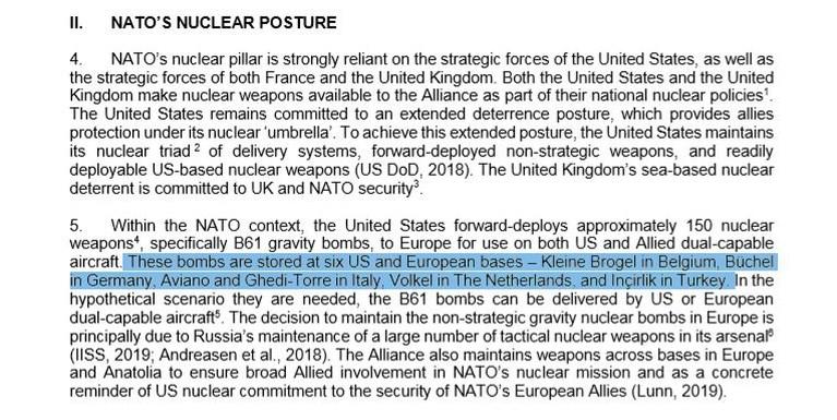 "Zwart op wit: ""Er liggen Amerikaanse kernwapens in Kleine Brogel"""