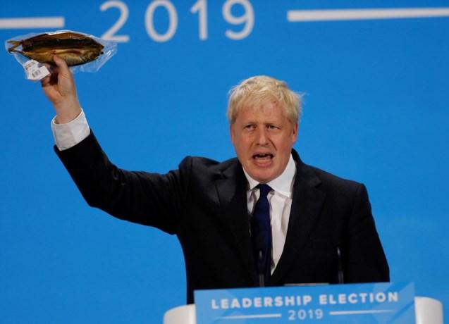 Boris Johnson zwaait met haring om spoedige Brexit te bepleiten, maar vangt bot
