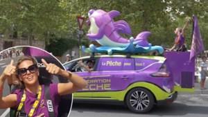 """Ine Beyen rijdt tijdens de Tour mee op een reclamekaravaan: """"De max, pure therapie!"""""""
