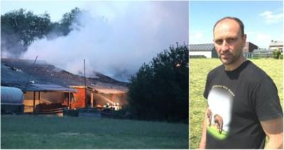 Zware brand in loods: reddingspoging van kalfjes wordt landbouwer (49) fataal