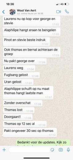 Wout van Aert is zelfs belangrijk vanuit het ziekenhuis: ploegleider Jumbo-Visma krijgt updates over Tour via WhatsApp