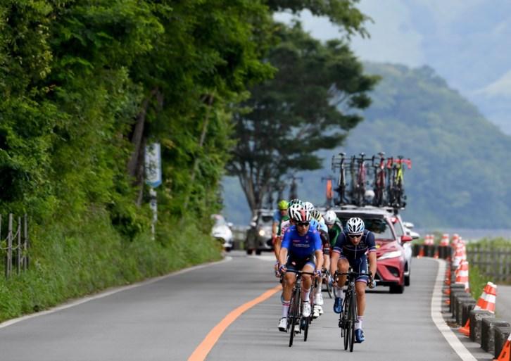 Test olympische wegrit: Diego Ulissi wint op en rond Mount Fuji, Loïc Vliegen eerste Belg