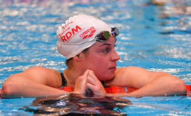 Fanny Lecluyse scherpt Belgisch record op de 100 meter schoolslag opnieuw aan, maar mist nipt WK-finale