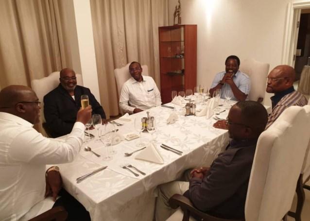 Beklonken bij rijkelijk diner: Congolese regeringsvorming 7 maanden na verkiezingen bijna rond