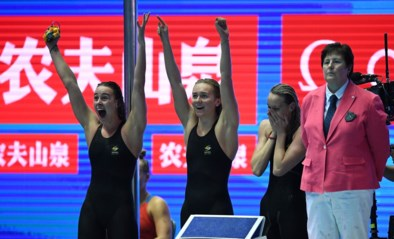 Australische vrouwen veroveren met wereldrecord op WK zwemmen goud op 4x200m vrije slag