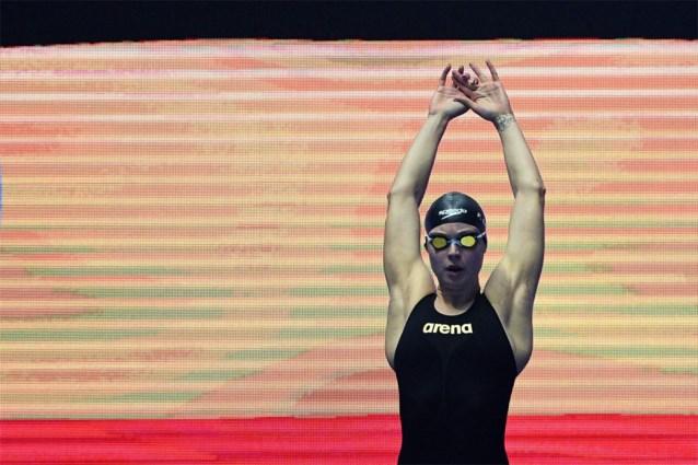 Fanny Lecluyse verbetert eigen Belgisch record en plaatst zich op WK zwemmen voor finale 200m schoolslag