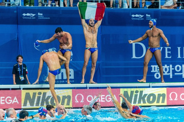 Italiaanse mannen kronen zich tot wereldkampioen in het waterpolo