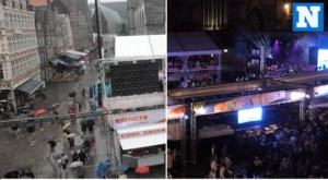 TIMELAPSE. Zo loopt de Korenmarkt vol op een regenachtige dag tijdens de Gentse Feesten