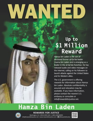 """Amerikaanse topambtenaren: """"Hamza bin Laden, de zoon van Osama, is dood"""""""