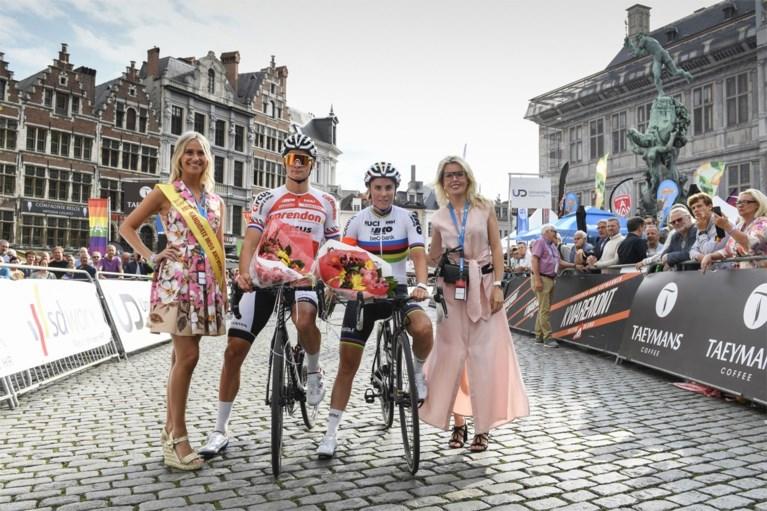 """IN BEELD. Mathieu van der Poel en Sanne Cant winnen het dernycriterium in Antwerpen: """"Ik train alvast om het WK te winnen"""""""