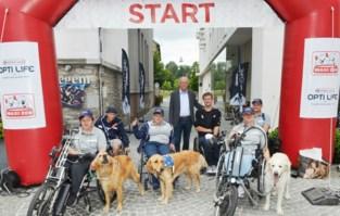 """Vijf handbikers en hun assistentiehond doorkruisen Vlaanderen: """"Uit erkentelijkheid voor wat onze hond voor ons betekent"""""""