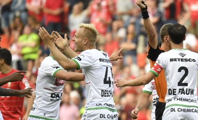 Olivier Deschacht krijgt al in tweede wedstrijd bij Zulte Waregem rode kaart