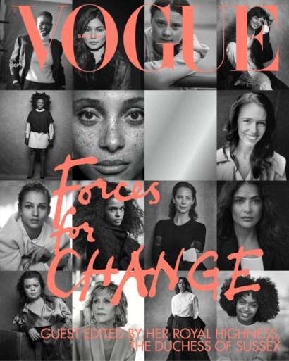 Model van 19 staat ineens op drié covers van 'Vogue'