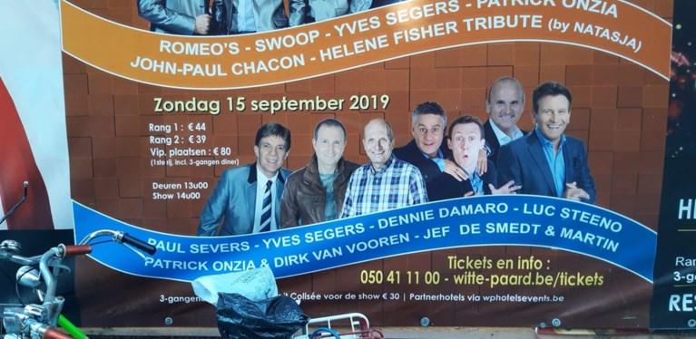 Pijnlijke fout: oude affiche kondigt optreden van overleden Paul Severs aan in Witte Paard