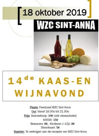Kaas- en wijnavond in WZC Sint-Anna