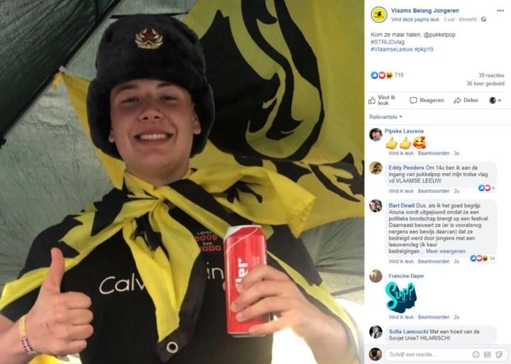 """Pukkelpop verontschuldigt zich voor """"misverstanden"""", Vlaams Belang-jongeren delen vlaggen uit aan ingang"""