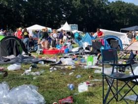 """De afvalberg is er niet minder op geworden op de Pukkelpopcampings: """"Die klimaatmarsen hebben geen effect"""""""
