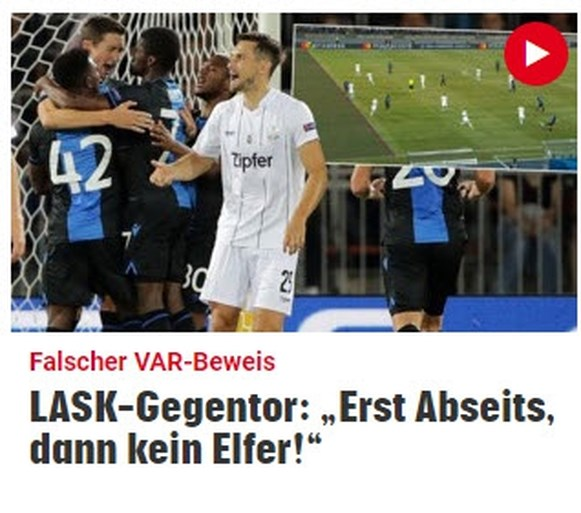 """""""Skandaltor!"""" In Oostenrijk zijn ze niet te spreken over de penalty van Club Brugge"""