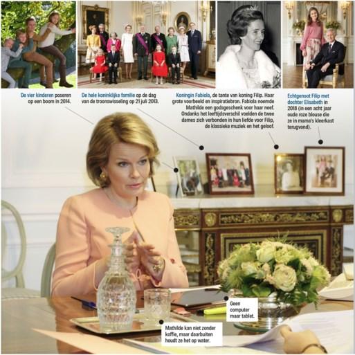 Koningin Mathilde geeft een zeldzame inkijk in haar bureau