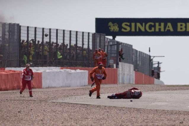 MotoGP-race die ontsierd werd door zware crash na 40 minuten uiteindelijk beslist met 13 duizendsten