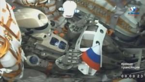 Capsule met Russische robot succesvol aangemeerd bij ISS