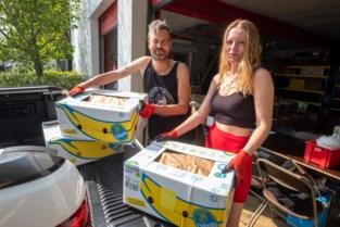Antwerpse vader en dochter rijden met 3 ton hulpgoederen naar Grieks vluchtelingenkamp