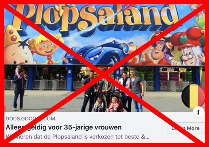 """Plopsa waarschuwt voor valse acties op internet: """"Klik niet en betaal zeker niet"""""""