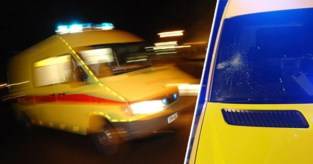 Ambulanciers aangevallen tijdens interventie: dronken jongeman (19) slaat met blote vuist voorruit van ambulance kapot
