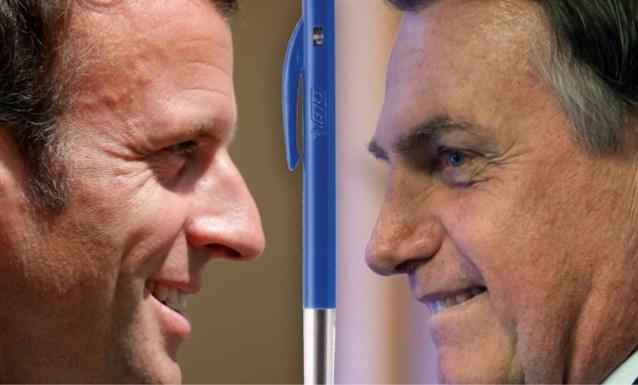 Bolsonaro weigert nog met 'Franse' Bic te schrijven (maar vergeet één klein detail)