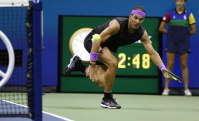 Rafael Nadal pakt uit met hét punt van de US Open en dat uitgerekend in het beslissende spelletje