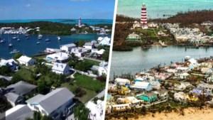 VOOR EN NA. Zo verwoestend sloeg orkaan Dorian toe op de Bahama's