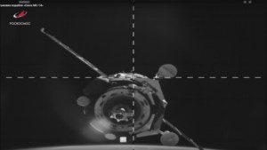 Onbemande Sojoez-capsule nam afscheid van ruimtestation ISS
