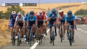 Hommeles in Vuelta: Movistar trok door op moment dat leider Roglic bij valpartij betrokken was