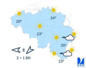 Nazomer in het land: zaterdag en zondag zonnige temperaturen verwacht