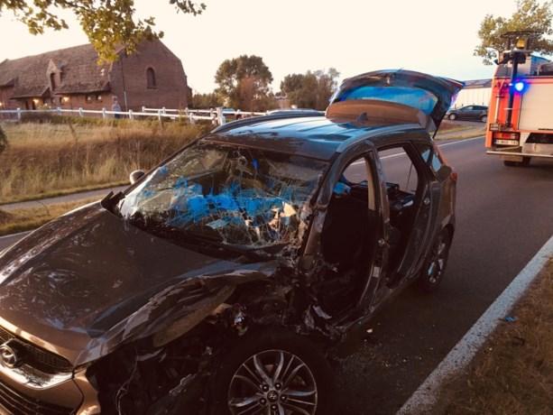 Man gekneld in voertuig nadat hij tegen boom crasht