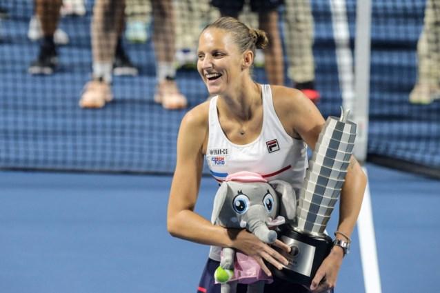 Karolina Pliskova heeft ticket voor WTA-finals beet