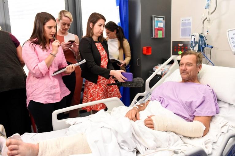 """Australische man kruipt twee dagen lang naar redding na val van waterval: """"Ik moest mijn gebroken been dragen"""""""
