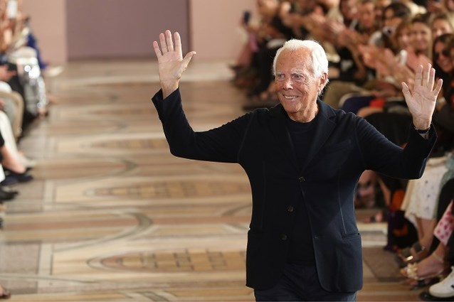 Giorgio Armani mag belangrijke modeprijs in ontvangst nemen