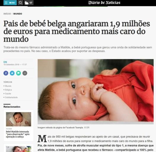 """Inzameling voor Pia is wereldnieuws: """"Ongelooflijke solidariteit voor kleine baby"""""""