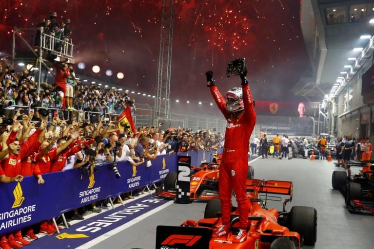 Sebastian Vettel wint eindelijk nog eens een race in de F1, Mercedes verrassend niet op podium in Singapore