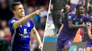 Hoe zou het zijn met de twee spitsen die Anderlecht verkocht? Santini scoorde een 'Santini-goal', Ganvoula in bloedvorm