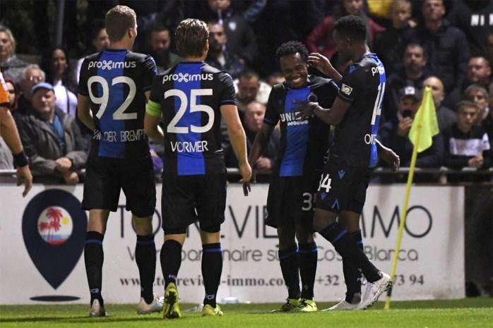 Invaller Tau moet experimenteel Club Brugge over de streep trekken tegen Francs Borains