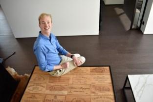 Slechte ogen, gouden handen: Harry maakt tafels en lampen op maat